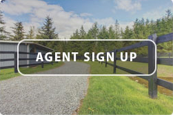 Gravel with Fence Road Graphic with Agent Sign Up Button